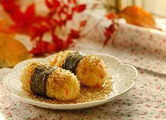 Rolled Rice with Roasted Sesame