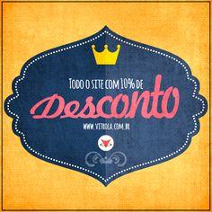 10% de DESCONTO! Adquira aquele seu Livro, CD, DVD, FIlme ou camisetas favoritos! Acesse www.vitrola.com.br