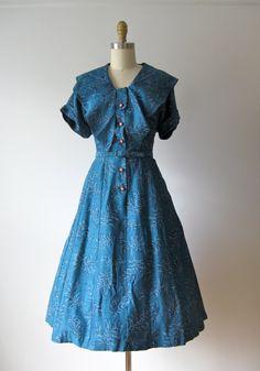 vintage 1950s dress / Blueberry Fields