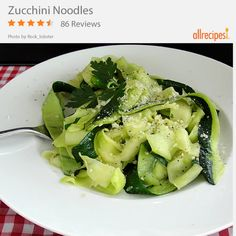 Zucchini Noodles | Zucchini gets the noodle treatment and you get a mouth full of yum.