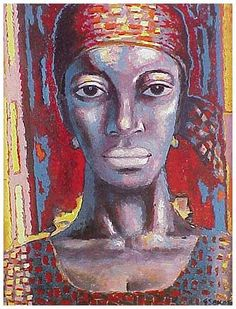 woman with a patterned headscarf 1975 gerard sekoto Gerard Sekoto, South African Artists, Portrait Art, Portraits, Black Image, African Women, Modern Art, Gallery, Painted Faces