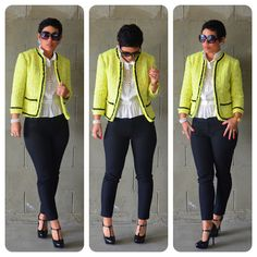 mimi g.: DIY Hand Sewn Chanel Inspired Jacket + Pattern Review V7975 (not crazy about the yellow jacket maybe in another color)