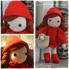 Little Red Riding Hood! Page is in French, no pattern.