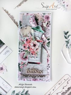 DEKORakcje by Alicja Staszak: A card with flowers Scrapbook Layouts, Scrapbooking, Major Holidays, Secret Places, Heartfelt Creations, Paper Cards, Special Events, Gallery Wall, Card Making