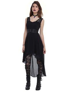 Royal Bones By Tripp Black Chiffon Hi-Lo Dress | Hot Topic