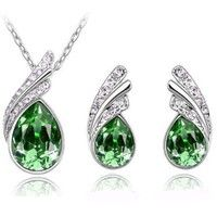 Home | Women's Ladies' Fashion Crystal Rhinestone Water Drop Earrings Necklace Jewelry Suit Gift