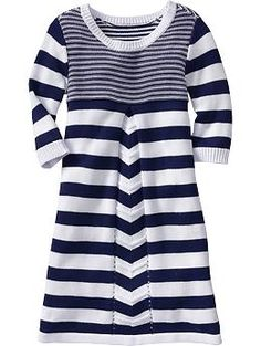 Girls Mixed-Stripe Sweater Dresses   Old Navy