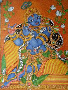 ദേവകല   ----                                                   mural paintings: Mural painting-Krishna