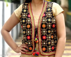 Checkout this latest Ethnic Jackets Product Name: *Stylish Cotton Women's Jacket* Sizes:  S, M, L Country of Origin: India Easy Returns Available In Case Of Any Issue   Catalog Rating: ★4.3 (360)  Catalog Name: Navratri Kutchi Work Jackets Vol 6 CatalogID_66963 C74-SC1008 Code: 304-599812-759