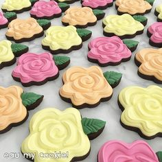 Have a beautiful weekend ahead! Mother's Day Cookies, Summer Cookies, Fancy Cookies, Easter Cookies, Custom Cookies, Tree Cookies, Rosette Cookies, Flower Sugar Cookies, Cupcakes