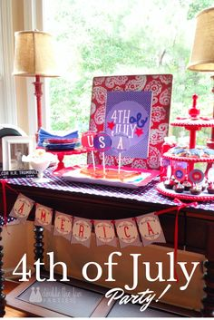 Home of the Brave 4th of July Dessert Table by Double the Fun Parties