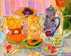 Pierre Bonnard ~ Nature morte et paysage. Pierre Bonnard was a French painter and printmaker, as well as a founding . Pierre Bonnard, Painting Still Life, Still Life Art, Paul Gauguin, Henri Matisse, Edouard Vuillard, Post Impressionism, Oil Painting Reproductions, Beautiful Paintings