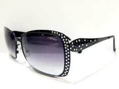 Caviar Womens Sunglasses Glasses M 1763 C 24 BLACK WITH SWAROVSKI CRYSTALS… http://www.thesterlingsilver.com/product/michael-kors-2009-300613-tortoise-gstaad-cats-eyes-sunglasses-lens-category-3/