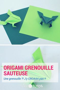 16 Meilleures Images Du Tableau Origami Grenouille Origami