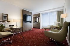 One Bedroom Lounge - Melbourne Marriott Hotel Crn Exhibition & Lonsdale Streets Melbourne, Victoria 3000