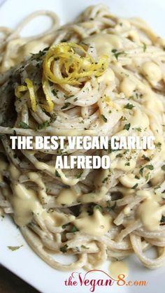 Vegan Dinner Recipes, Delicious Vegan Recipes, Dairy Free Recipes, Pasta Recipes, Vegetarian Recipes, Gluten Free, Cooking Recipes, Vegan Pasta, Vegan Food