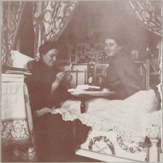 Empress Alexandra Feodorovna of Russia and Anna Vyrubova having a giggle.A♥W