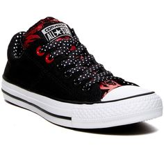 Converse CT Madison OX Sneaker (Women) ($40) ❤ liked on Polyvore featuring shoes, sneakers, lace up sneakers, polka dot sneakers, round toe shoes, converse trainers and converse sneakers
