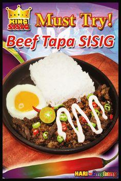 "King Sisig -- Beef Tapa ""Must try sisig meal!"" #ilovekingsisig ^_^"