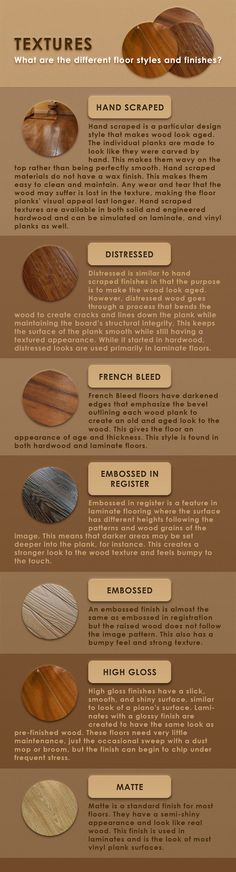 An Infographic Of Floor Textures Infograph Texture