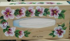 One Stroke Painting, Painting & Drawing, Painting Flowers, Wood Work, Glass Art, Boxes, Drawings, Creative, Paintings