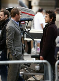 Guy Ritchie and Rob Downey in Sherlock Holmes