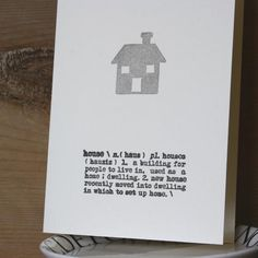 Grey Printed House - Handmade New Home Card BA2065 1459248619007 - £2.75 - Creased Cards