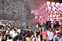 Enjoy the moment when it all hits you: a confetti shower, at White Beirut