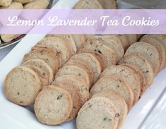 Lemon Lavender Tea Cookies - The Cottage Mama