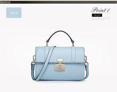 Przepiękna, niebieska torebka skórzana firmy nucelle - propozycja nr 2 http://misskate.pl/eleganckie-torebki-skorzane-2016