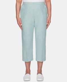 4ac0142207 Alfred Dunner Petite Monterey Cargo Capri Pants - Blue 6P