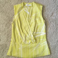 Calvin Klein top  Great spring color. Excellent condition. No stains or rips. Smoke and pet free home. Calvin Klein Tops Blouses