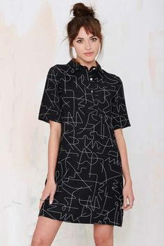 Dusen Dusen Black Wire Dress