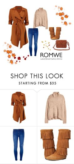 """""""Camel-Triangle-Patch-Flap-Bag"""" by zerina913 ❤ liked on Polyvore featuring Boohoo, Dorothy Perkins and Minnetonka"""