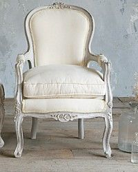 Pair Vintage 1940's Louis XV French Style Armchairs