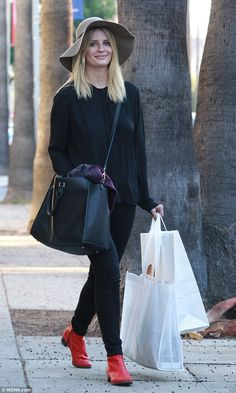 Mischa in monochrome! Mischa Barton, 29, stepped out in West Hollywood on Monday and did s...