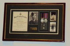 military medal display