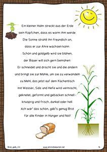Bildergebnis für vom korn zum brot kindergarten arbeitsblatt ...