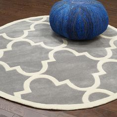 nuLOOM Handmade Luna Moroccan Trellis Round Rug (8' Round) - Overstock Shopping - Great Deals on Nuloom Round/Oval/Square