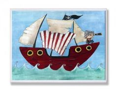 Take a look at this Stupell Industries Pirate Ship Wall Art by A Pirate's Life Boutique on today!
