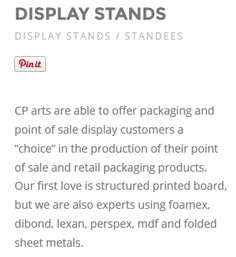 #displaystands