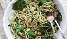 Preserved Lemon + Chickpea Pasta with Parsley Pesto from The Year in Food Kimberley Hasselbrink