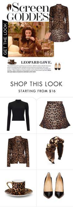 """The Nanny Leopard Print"" by andreearaiciu ❤ liked on Polyvore featuring Miss Selfridge, Dolce&Gabbana, Jennifer Behr, Asprey and Christian Louboutin"