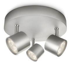 Buy Philips myLiving Adjustable 3Ceiling Spot Light - Aluminium at Argos.co.uk - Your Online Shop for Ceiling and wall lights, Lighting, Home and garden.
