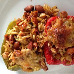 Überbackene Paprika mit Kichererbsen & getrockneten Tomaten