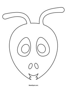 Printable Ant Mask to Color
