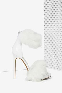 Jeffrey Campbell Cookie Faux Fur Heel - Heels