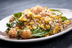 #SexyShredRecipes Millet With Corn, Mango and Shrimp | Organic, non-GMO corn. Sea or kosher salt.