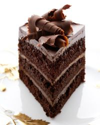 there is a reason why ALL humans love chocolate!!! incredible Fudgy Chocolate Layer Cake, recipe from foodandwine.com