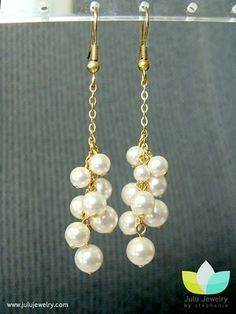 Easy DIY dangly pearl earrings
